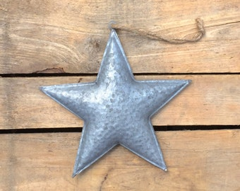 Rustic Metal Star Hanging Ornament