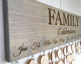 Family CELEBRATIONS Calendar Board