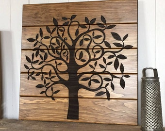 RESERVED FOR WENDY, 40X40 Tree of Life Wooden Sign