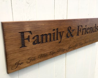READY TO SHIP Family & Friends Calendar Board