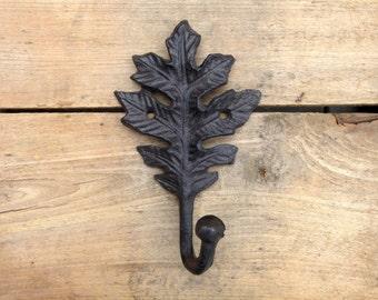 Oak Leaf Cast Iron Wall Hook