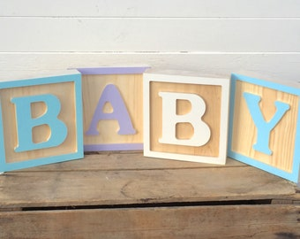 Large Wooden Letter Blocks