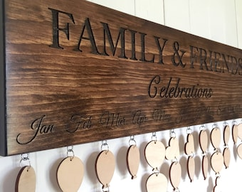 Reserved for Kelly, Family & Friends Celebrations Board with Custom Tags