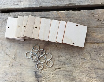 Wooden Square Tags for the Family Celebrations Board