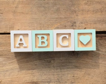 RESERVED For MIA D, 6 Sets of ABC Mini Wooden Letter Blocks