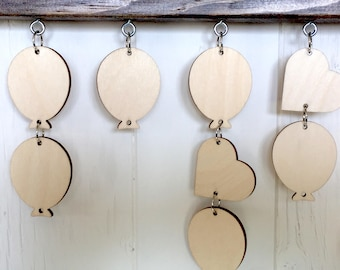 Wooden Tags for the Family Celebration Board
