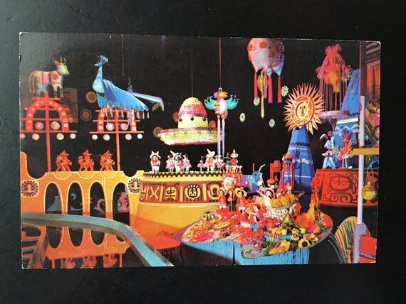Alice in Wonderland Ride  Attraction Vintage Disneyland Fantasyland Postcard