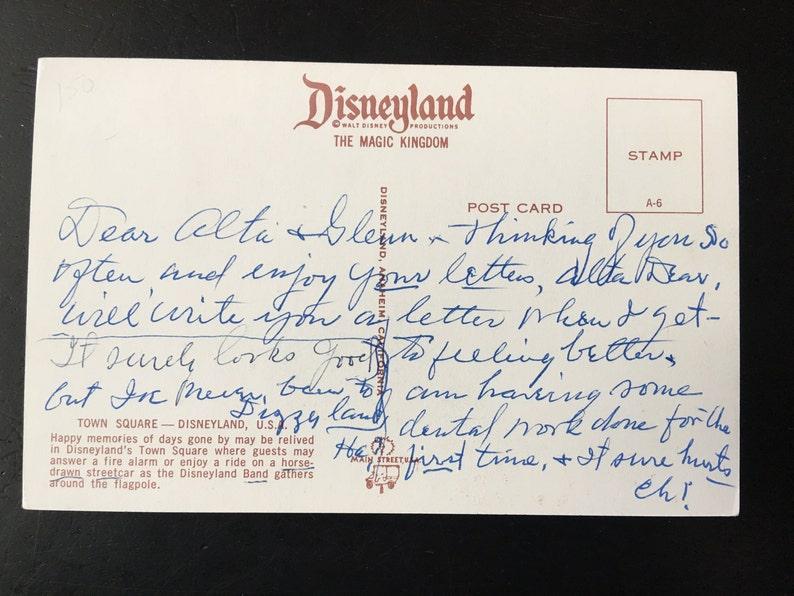 Vintage Disneyland Main Street U.S.A Town Square Postcard