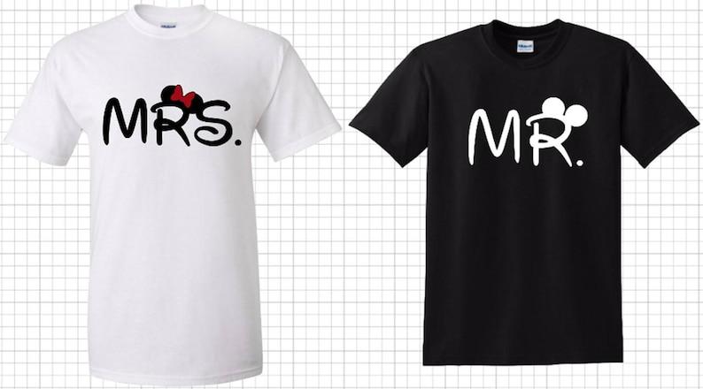 b41361689a Disney Bound Mr & Mrs couple T-Shirt   Etsy