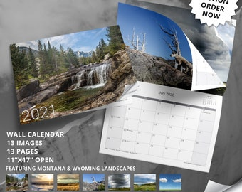 2021 Calendar Featuring Montana and Wyoming Landscape Photography