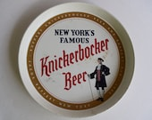 Knickerbocker Beer vintage beer tray, metal, Jacob Ruppert, NYC, 1960s