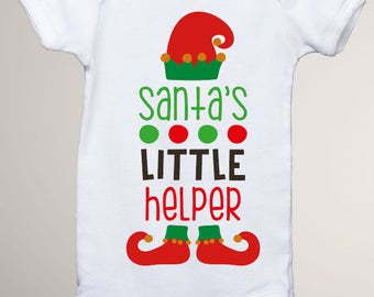 Santa's Little Helper Onesie