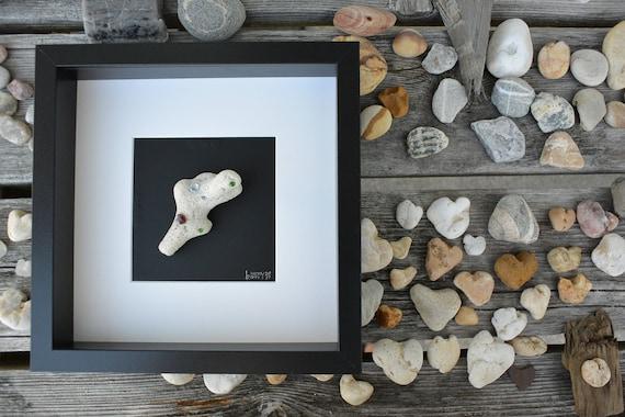b. Hardy Nature Series Fossilized Sea Coral with Gemstones #1, Heart Rocks, Beach House, Beach Art, Beach, Wedding, Bedroom, Home Decor