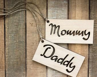 Wood name tags | Etsy