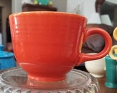 Vintage Fiesta Mango Red Ironstone C shaped handled Teacup