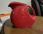 Fiesta Large Disk Pitcher in the color of Scarlet