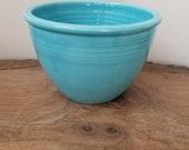 Vintage Fiesta Turquoise Mixing Bowl 2 NO Inner Rings