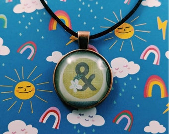 Ampersand Cabochon Necklace