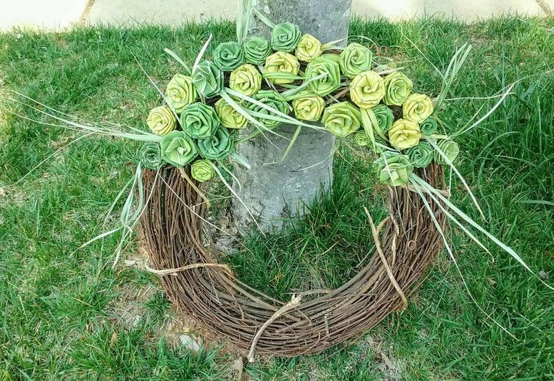 Palmetto Rose Wreath