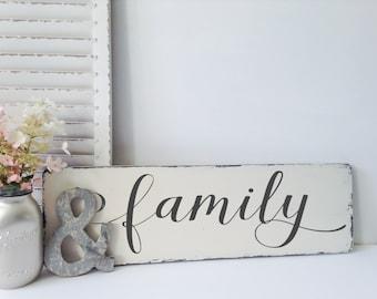 Wooden Family Sign, Family Sign, Wooden Signs, Wood Sign, Word Sign, Wooden Word Art, Custom Wooden Signs, Housewarming Gift, House Warming