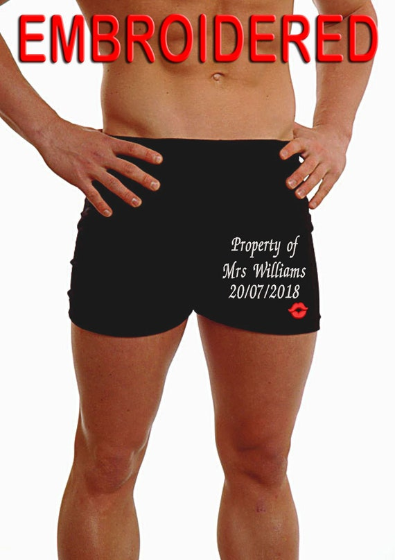 Personnalisé Homme Boxers Short Sous-Vêtements Mariage meilleurs pantalon Mari Groom Jambe