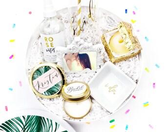 Bridal Shower Gift - Gift for Bride - Future Mrs. Wedding Gift - Engagement Gift - Gift for Bride - Custom Gift Box - White Confetti