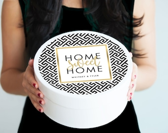 Housewarming Gift First Home - Home Sweet Home - New Home Gift - Closing Gift - New House -  Closing Gift - Moving Gift - New Neighbor Gift