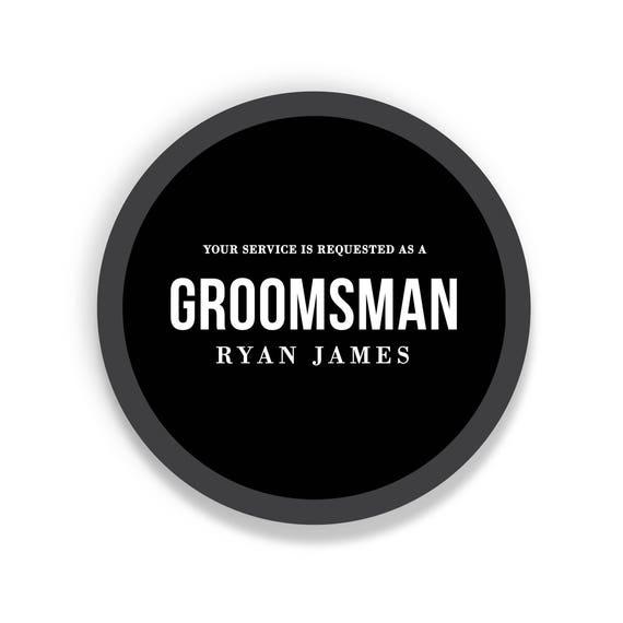 Groomsman Box Best Man Gift Box Custom Groomsmen Gift Will You Be My Groomsman Groomsmen Gifts Black Gift Box Round Bo