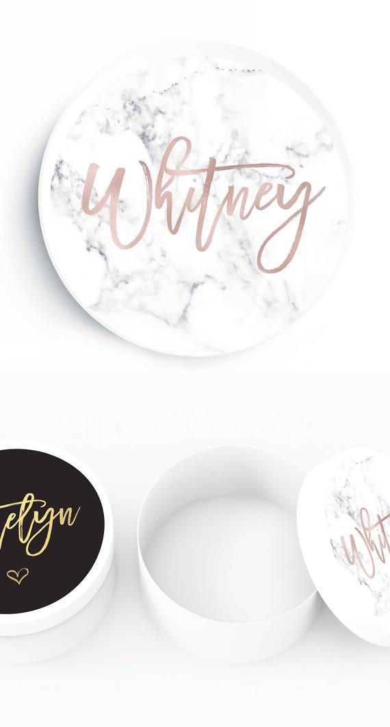 White Confetti Box Custom Design Gift Box All Occasion Gift Box Round White Hat Box Custom Gift Box Custom Bridesmaid Gift Box