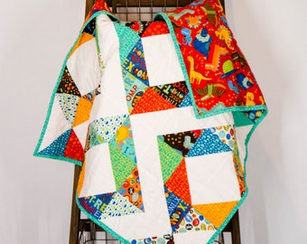 DIAMONDS: MADE to ORDER | Modern Baby Quilt | Toddler Quilt | Baby Blanket | Handmade Baby Quilt | Baby Quilts for Sale | Nursery | Quilt
