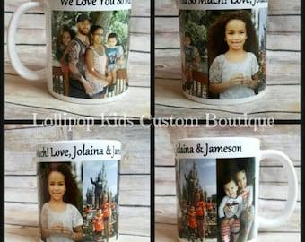 Photos on 11oz coffee mug