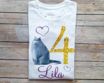 Chloe: Secret Life of Pets Birthday white short sleeve shirt