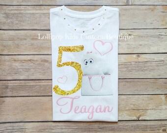 Gidget: Secret Life of Pets Birthday white short sleeve shirt*