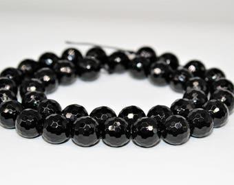 Black Onyx 13X19X6 MM ! Jewelry Making Gemstone Attractive Fancy Shape Cut Black Onyx One Side Faceted Gemstone Christmas Gift