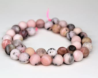 Matte Pink Opal Natural Gemstone Round Loose beads 6/8/10mm