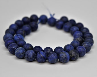 Matte Lapis Lazuli Natural Gemstone Round Loose beads 6/8/10mm