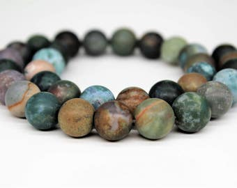 Matte Indian Agate Gemstone Round Loose beads 6/8/10mm