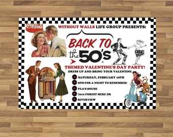 Sock hop invite Etsy