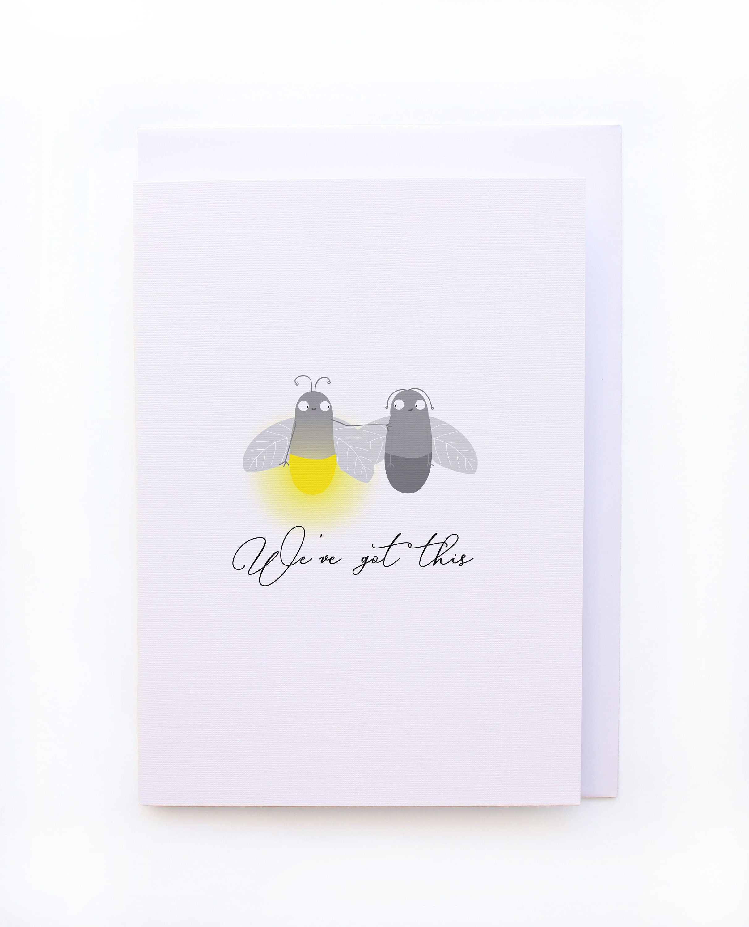Weve Got This Cute Firefly Thoughtful Greeting Card Etsy