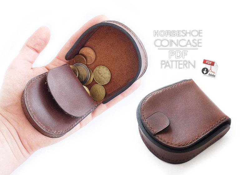 Horseshoe Coin Case Patternsvideo Tutorial Leathercraft Etsy