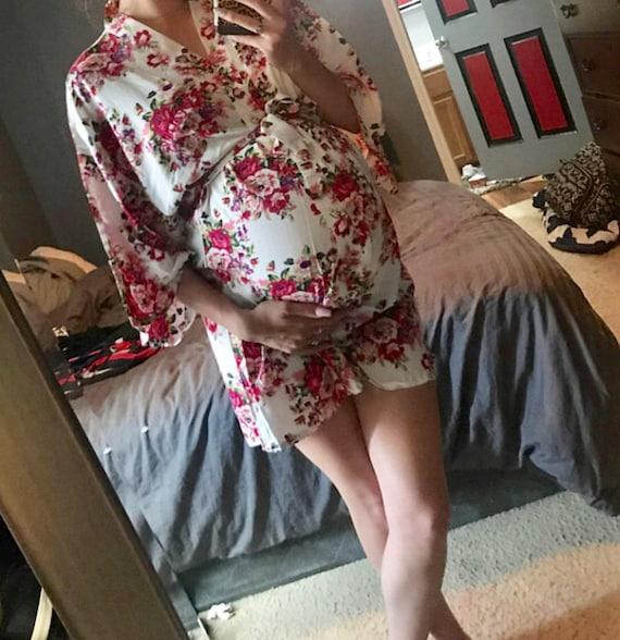 aa8bd7143 Monogram Maternity robe nursing robe delivery hospital gown | Etsy