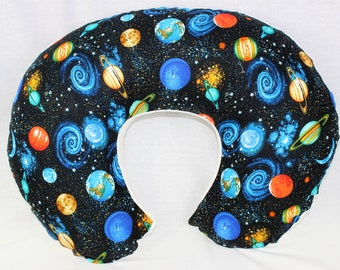 Planets With Minky Underside Boppy Pillow Cover