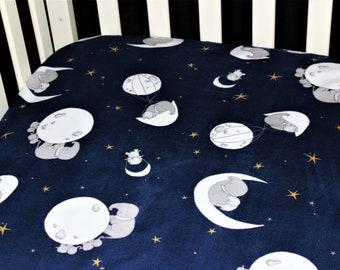 Moon Phases Crib Sheet Girl Boy Bedding Crib Sheet La Luna Zodiac Minky Baby Bedding Moons Zodiac Fitted Sheet Fitted Crib Sheet