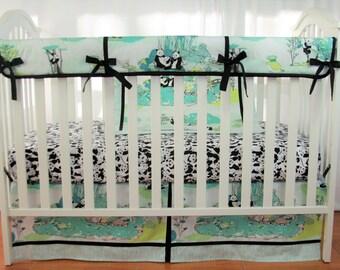 422c43af3a93 Bumperless Crib Bedding Set Panda Garden Recess - Baby Bedding