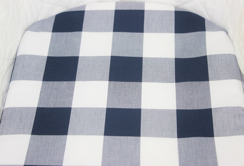 Bassinet Sheet Moses basket sheet Kaufman Carolina Gingham 2 Navy Fabric