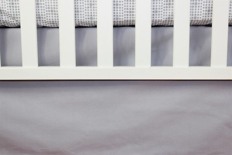 Solid Gray Crib Bedding Skirt  Mini Crib Skirt