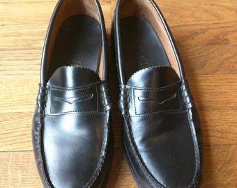 Dexter penny loafer original shoes men's 10 D slip-ons classic 80's black nice authentic leather preppy old school Billy Jean Beat It