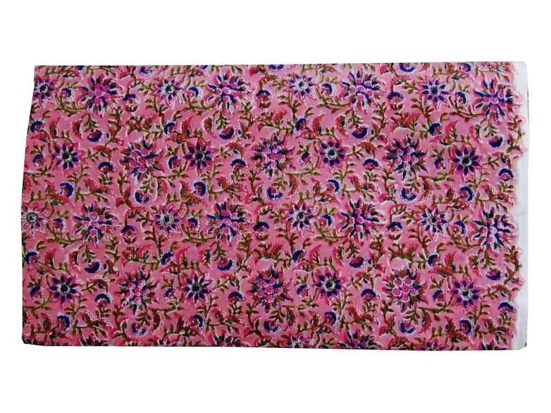 Indian Hand Block Print Fabric Pure Cotton Fabric Sanganer Jaipur Natural Vegetable Color 2.5 To 50 Yards Print 192