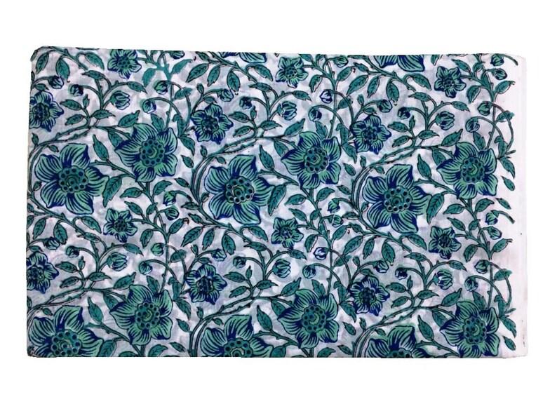 Indian cotton dress Fabric Natural Purple 2.5 yards hand block print fabric