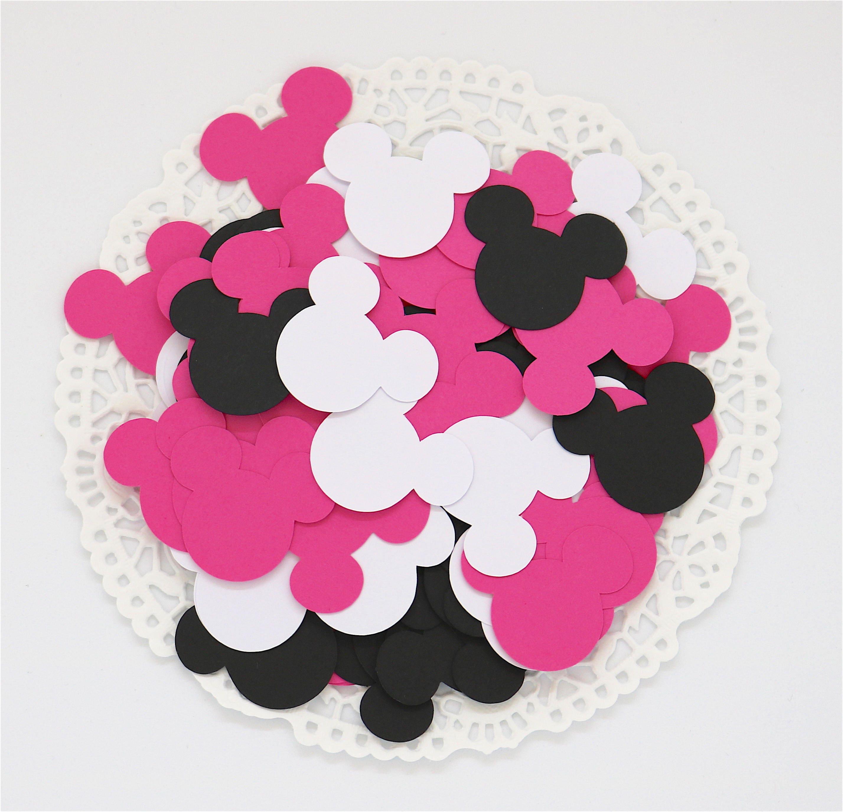 Confettis Minnie Mickey Anniversaire Enfant Decoration Etsy